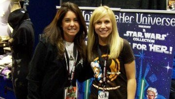 Tricia and Ashley at the C5 Her Universe Booth