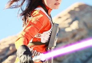Scruffy Rebel cosplaying Jaina Solo