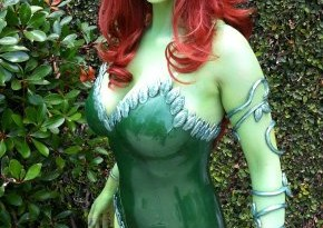Abby in costume as Poison Ivy for Kotobukiya