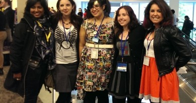 The GeekGirlCon 2013 Star Wars panelists: Linda, Amy, Meg, Lisa, and Tricia