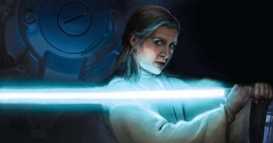 Leia with Lightsaber