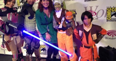 Vanessa Marshall with Rebels family cosplay WC