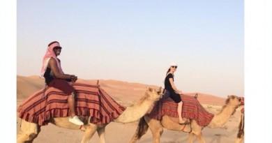 Daisy Ridley riding camel
