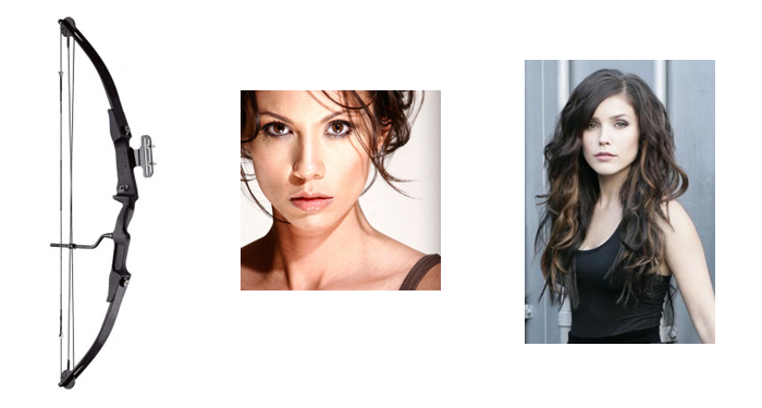Compound box, actress Lexa Doig, actress Sophia Bush