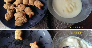 Fish Fingers & Custard Before and After