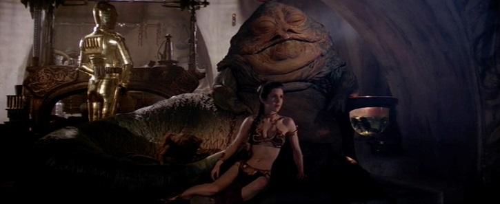 ROTJ Slave Leia captive