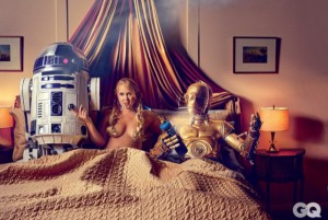 Amy Schumer GQ bed