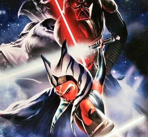 Hasbro SWCA Vader Ahsoka poster