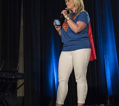 Marissa Bailey at Wizard World Supergirl Screening