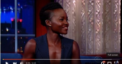 Lupita Nyong'o on The Late Show