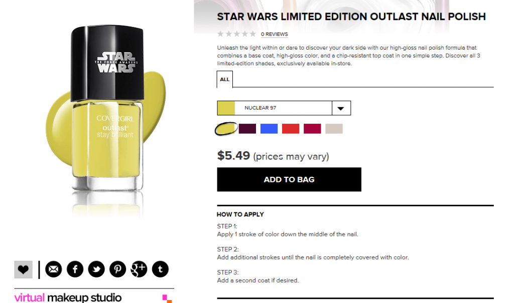 CoverGirl Star Wars nail polish