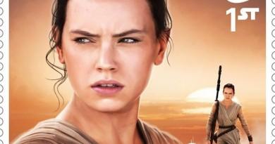 Rey The Force Awakens Stamp