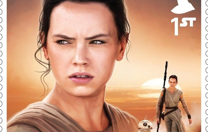 Rey The Force Awakens Stamp