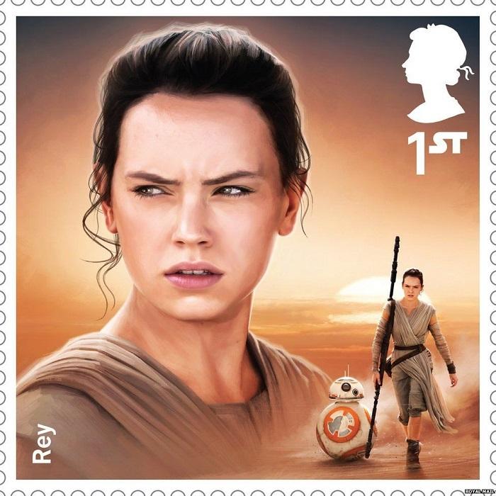 Rey Royal Mail UK stamp