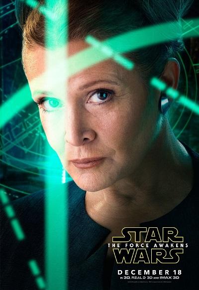 Carrie-Fisher-Star-Wars-Force-Awakens-Movie-Poster