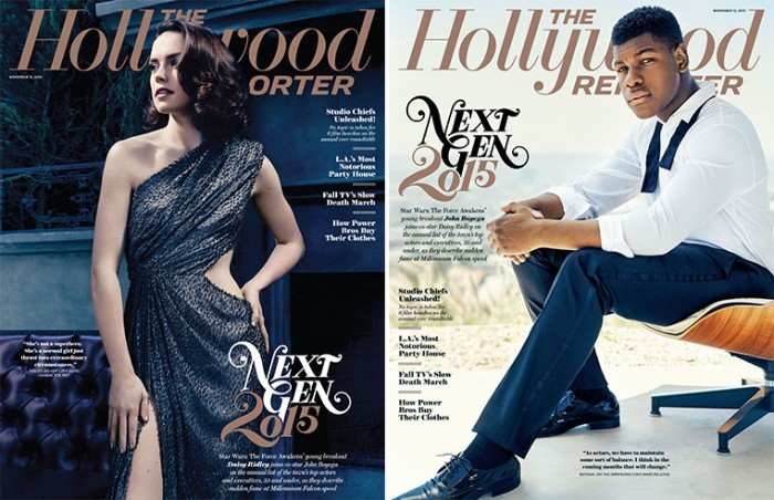 Daisy Ridley John Boyega Hollywood Reporter covers