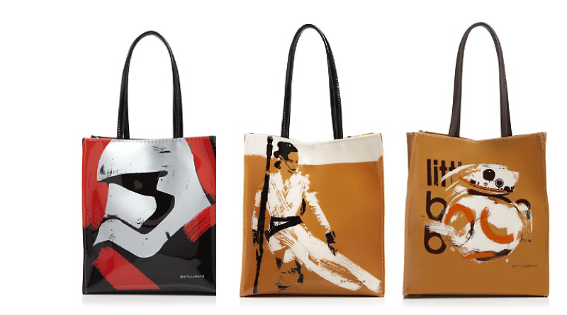 The Force Awakens Michael Kaplan-designed totes