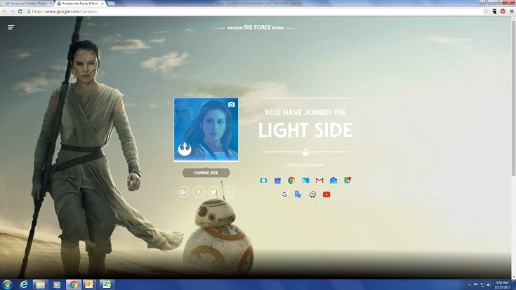 Rey light side Google Star Wars