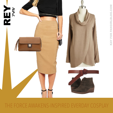 Rey Everyday Star Wars Cosplay with a skirt from FANgirl Blog
