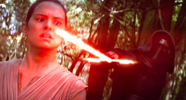 Rey captured Kylo Ren Takodana