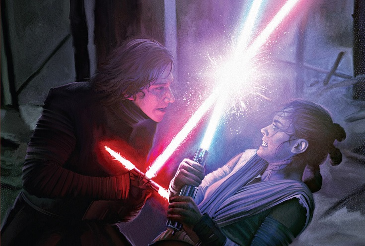Rey vs Kylo Ren cover art