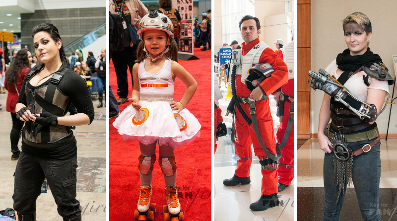 Angel Dust, BB-8, Poe Dameron, and Furiosa - C2E2 Featured Costumes at FANgirl