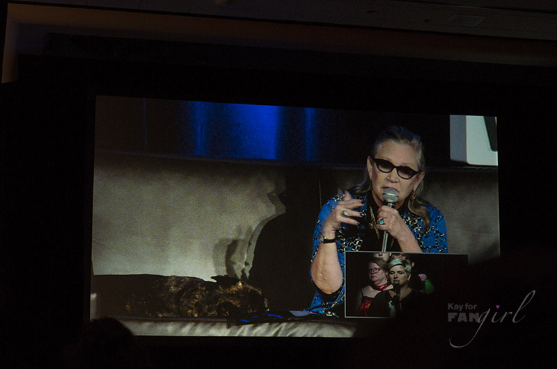 Carrie Fisher answering a fan question