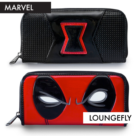 Black Widow and Deadpool Wallets from Loungefly featured on FANgirl Blog
