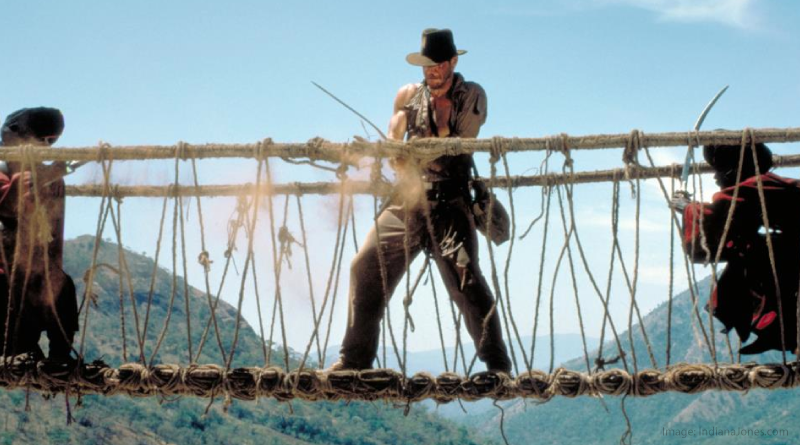 Temple of Doom Bridge Scene