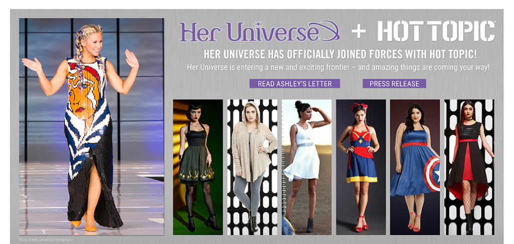 Her Universe and Hot Topic graphic