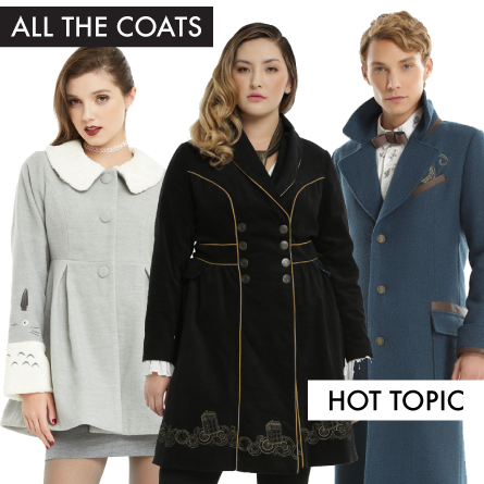 Fandom Coats at Hot Topic