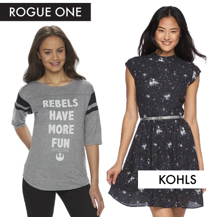 items from Kohl's Rogue One junior line