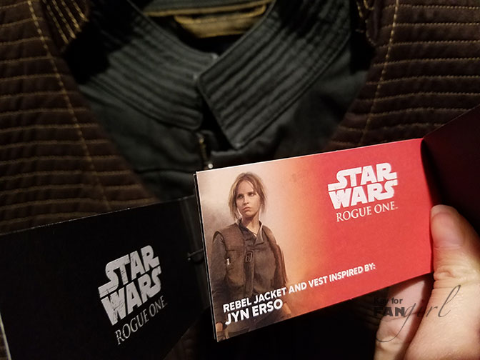 Columbia's Jyn Erso Rebel Jacket tag