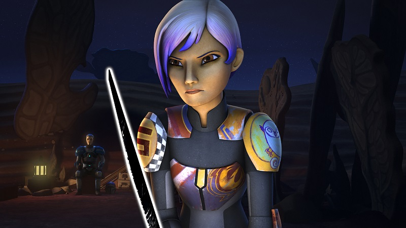 Rebels Trials Darksaber Sabine blade
