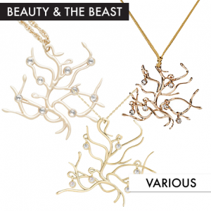 Beauty and the Beast Necklaces featured on FANgirl Blog