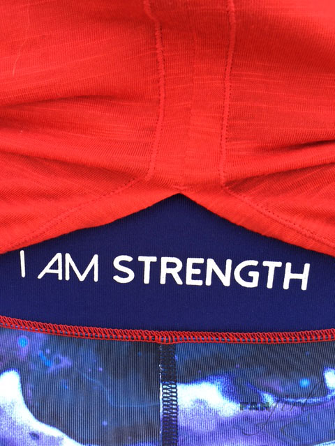 Superman Her Universe Activewear Close-up