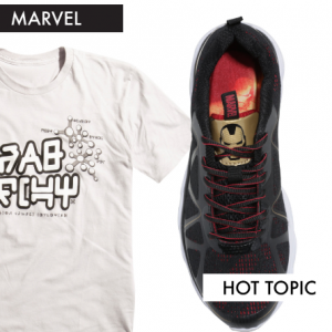 Guardians of the Galaxy and Iron Man at Hot Topic