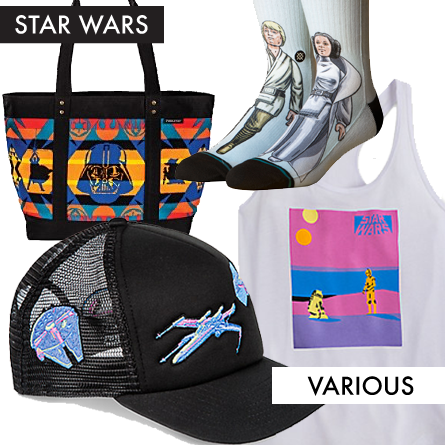 colorful Star Wars apparel