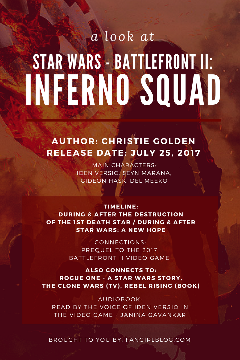 a look at Battlefront II Inferno Squad Book from Kay at FANgirl Blog