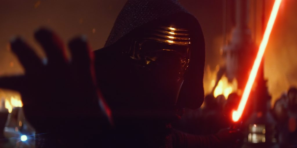 Kylo Ren Uses The Force in The Force Awakens