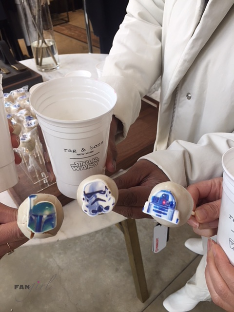 Star Wars Cake Pops at Rag and Bone store
