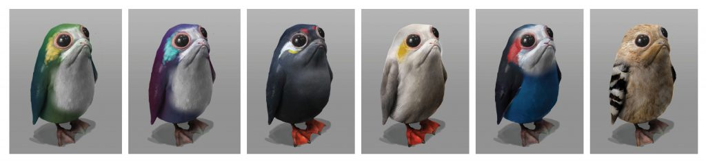 Porgs from The Art of The Last Jedi