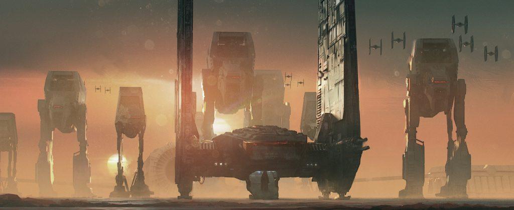 Kylo Ren's Shuttle on Crait from The Art of The Last Jedi