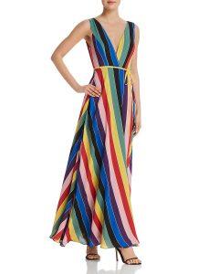 Aqua Rainbow Maxi Dress