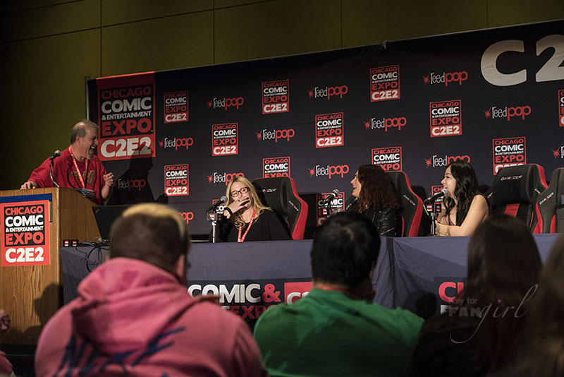 Susan Eisenberg makes everyone laugh at the Women of Voice Acting C2E2 Panel
