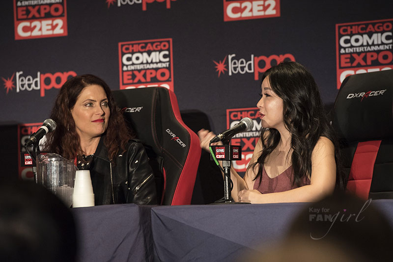 Charlet Chung and Vanessa Marshall speaking about being women in voice acting