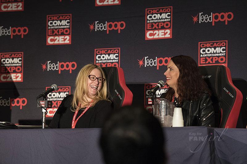 Susan Eisenberg and Vanessa Marshall C2E2 2018 FANgirl Recap