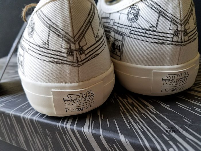 Back View of Star Wars Millennium Falcon Sneakers