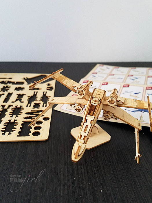 Completed 3D Wood X-wing