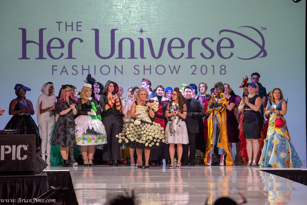 Contestants Waiting for the Winner Announcement at the Her Universe Fashion Show SDCC 2018